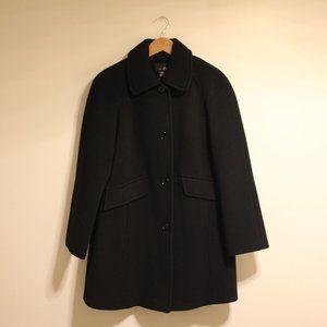 East 5th Vintage Black Wool Blend Peacoat